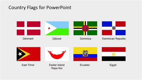 flags of the world powerpoint country flags clipart for powerpoint c to d slidemodel