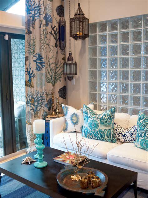 blue home decor ideas τοίχος από γυαλί για το σπίτι της βάγιας decofairy