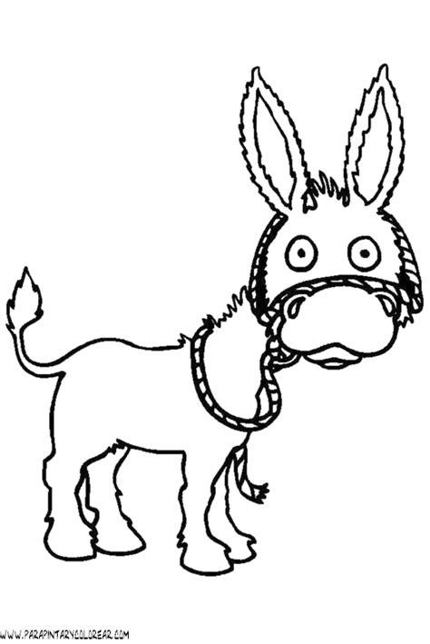imagenes para colorear burro imagenes de dibujos de burros imagui