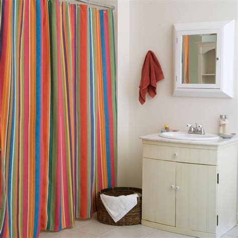striped bathroom curtains red and white horizontal stripe shower curtain curtain