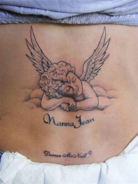 tattoo lil angel tatouage ange qui prie ventre femme tr53av tatouage