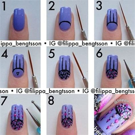 15 easy step by step s day nail tutorials