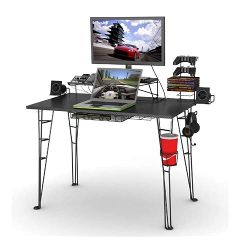 Atlantic Gaming Desk Black with Atlantic Gaming Desk And Task Chair Combo Black 33935797