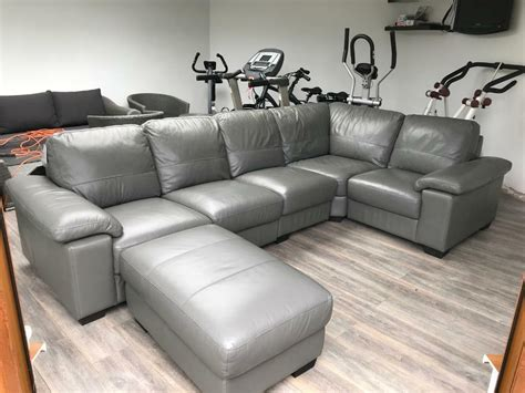 grey leather corner sofa  wolverhampton west midlands gumtree