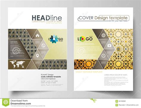 Business Templates For Brochure Magazine Flyer Cover Design Template Flat Layout In A4 Size Magazine Brochure Template