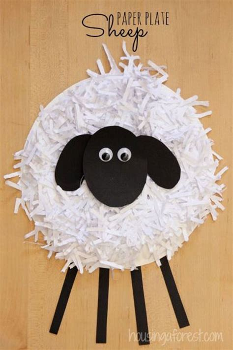 Paper Plate Sheep Craft - 40 simple easter crafts for one project