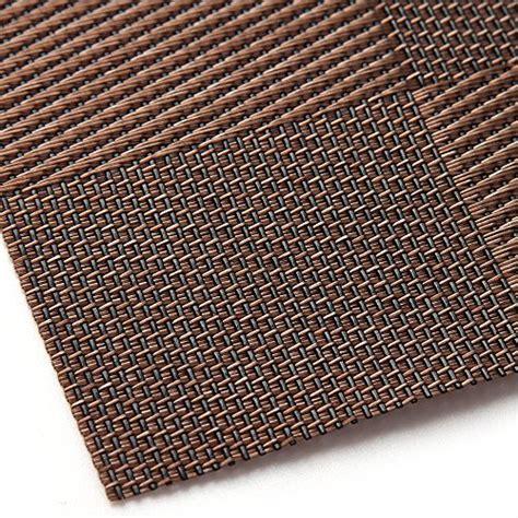 Non Slip Table Mat by Placemat U Artlines Crossweave Woven Vinyl Non Slip
