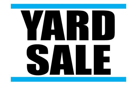 backyard sales printable yard sale signs free download for advertisement