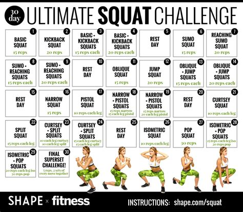 best 30 day squat challenge the 30 day squat challenge that will totally transform