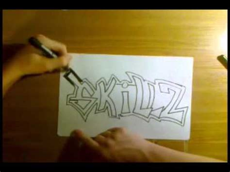 how to write graffiti on paper how to draw easy graffiti on paper hq