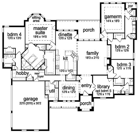 tudor floor plans tudor style house plan 4 beds 4 baths 3650 sq ft plan