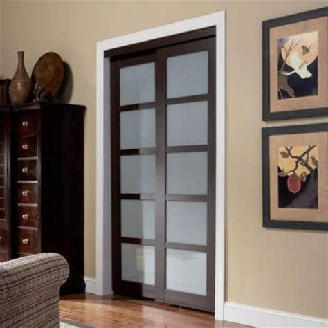 Truporte Closet Doors by Truporte Door 2240 Series 48 In X 80 In Espresso 5 Lite
