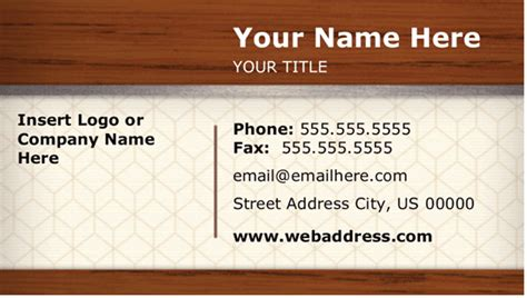 ms business card template elements of business card design business card templates