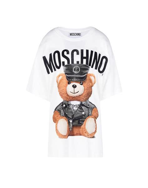 Moschino Tshirt moschino sleeve t shirts in white lyst