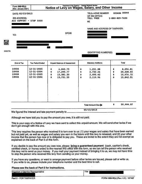 release of garnishment letter tax letters washington tax services