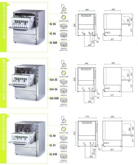 altezza banco bar lavabicchieri omniwash modello jolly cl35 attrezzature