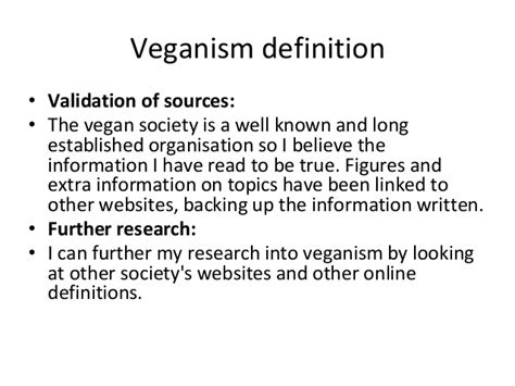 veganism research for booklet
