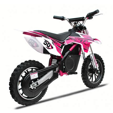 pink motocross xtreme 24v 500w xtm dirt bike in pink xtm dirt bike 500w