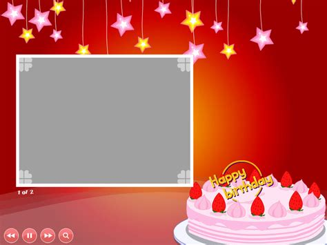 Birthday Greeting Cards Birthday Card Templates Birthday Card Powerpoint Template