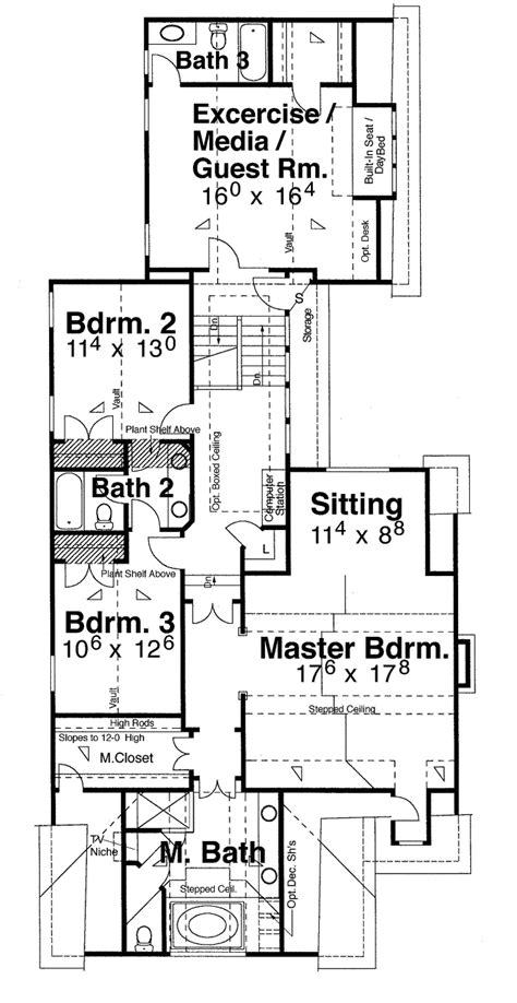 narrow zero lot line house plans home design and style
