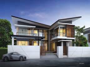 Modern 2 Story House Plans Two Storey Villas Modern Two Storey House Designs 2