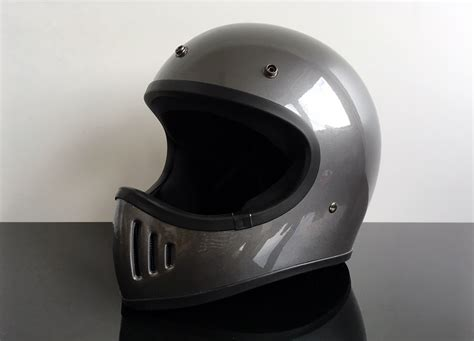 Helm Cross Cross Enduro Helm Endurohelm Casco Helmet Casque Silber