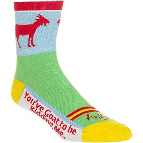 goat pattern socks goat socks kritters in the mailbox goat novelty socks