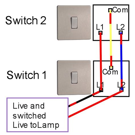 wiring diagram for two way light switch two way light switching light fitting