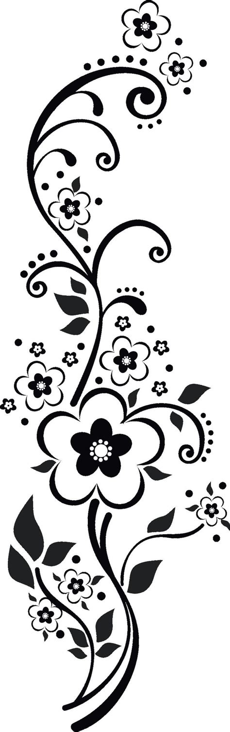 black and white embroidery patterns http flowerillust com img flower flower4937 png vector