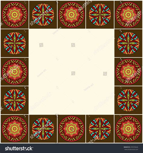 african pattern frame decorative border african ornaments ornate ethnic stock