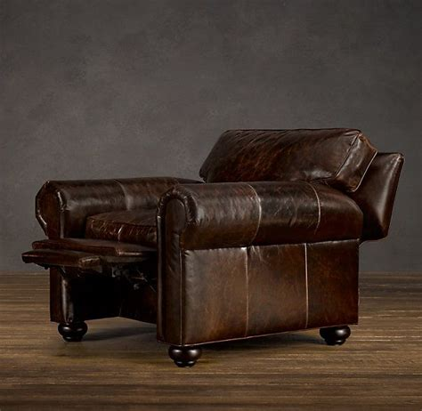 Restoration Hardware Recliner Lancaster Leather Recliner 2 In Cognac For Lower Level Family Room Decor Ideas