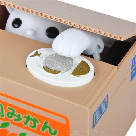 Money Cat Piggy Bank Celengan Kucing Brown Print Friendly V money cat piggy bank celengan kucing brown