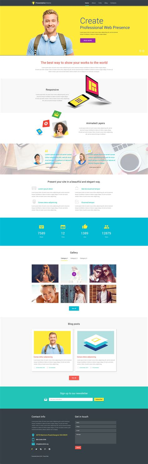 wordpress themes presentation 10 unique wordpress themes for your design business