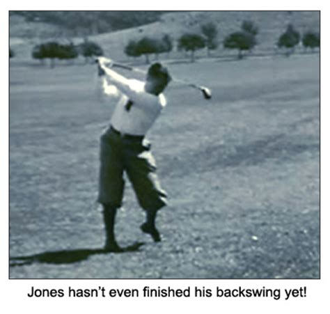 bobby jones swing perfect your golf back swing