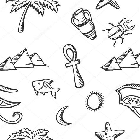 imagenes simbolos egipcios colecci 243 n de dibujo de patrones sin fisuras de s 237 mbolos