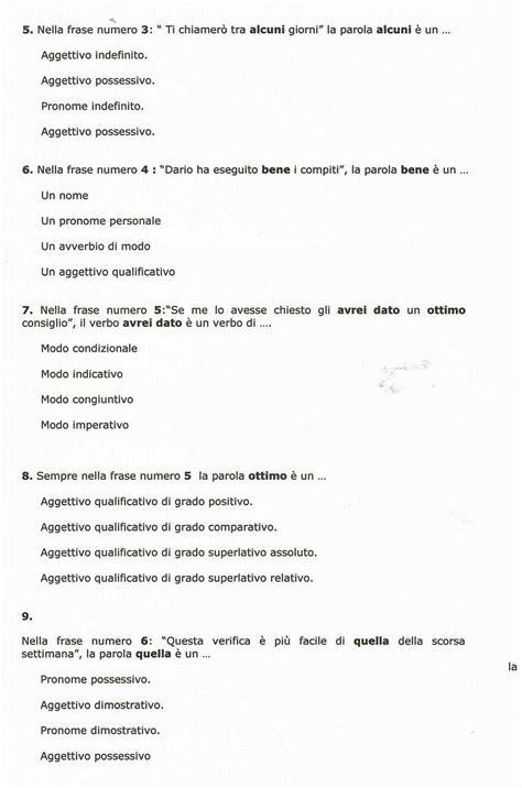 test d ingresso di italiano per la prima superiore prova di verifica di italiano scuola primaria verifica di