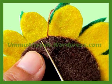 tutorial flanel bunga matahari membuat bunga matahari dari kain flanel ummu aliyyah