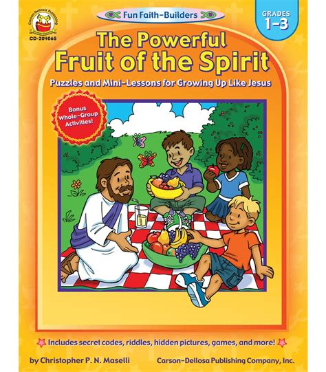 9 fruits learning center the powerful fruit of the spirit activity book grade 1 3