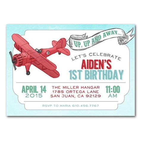 airplane invitation template vintage airplane up away how time flies birthday