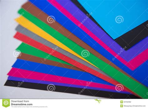 Color Paper Crafts - lot of color paper for crafts idea stock photo image