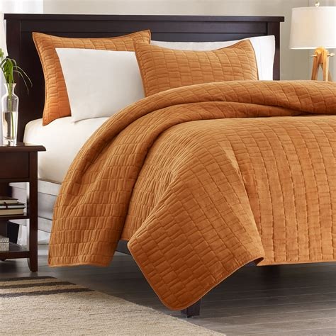 orange coverlet king velvet touch cinnamon by hton hill beddingsuperstore com