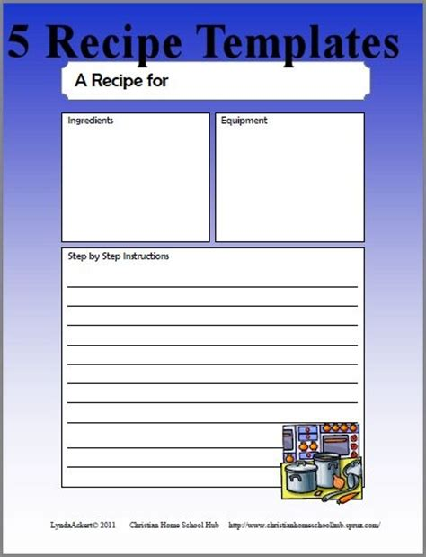 template for a recipe recipe writing templates recipes recipe cards and