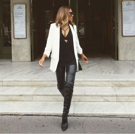 Dessi Blazer perkins ootd blazers boots and
