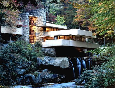 Falling Waters House frank lloyd wright falling water car interior design