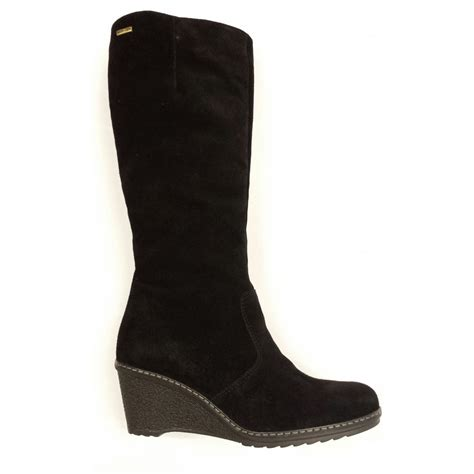 bladon black suede waterproof boot