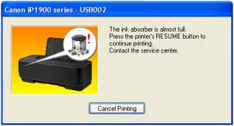 reset canon ip1980 ink absorber full cara reset printer canon the ink absorber is almost full