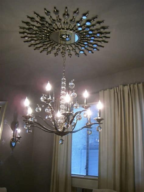 mirrored ceiling medallion