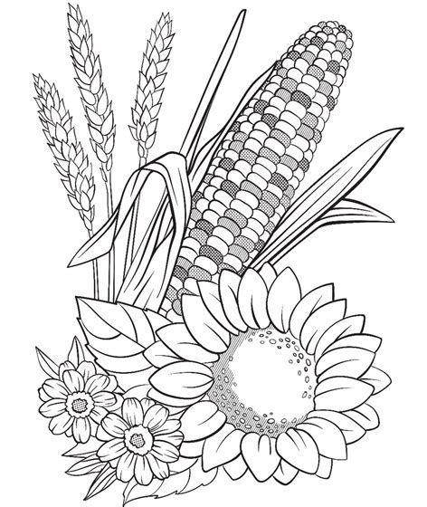 crayola coloring pages flowers corn and flowers coloring page crayola com