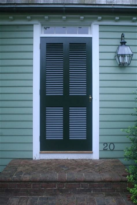 Louvered Doors Exterior Louvered Doors Colonial Shutterworks
