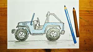 How To Draw A Army Jeep How To Draw A Jeep Wrangler
